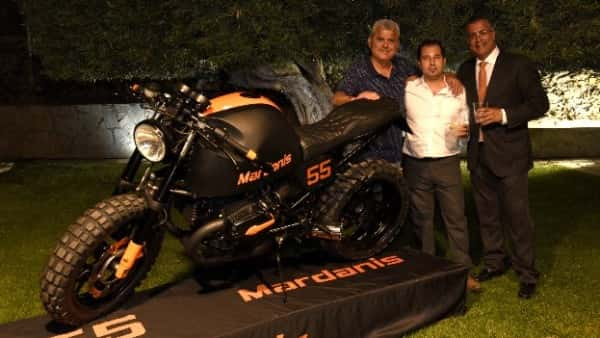 Fran Manen and Fernando Cuello the day of the motorcycle presentation