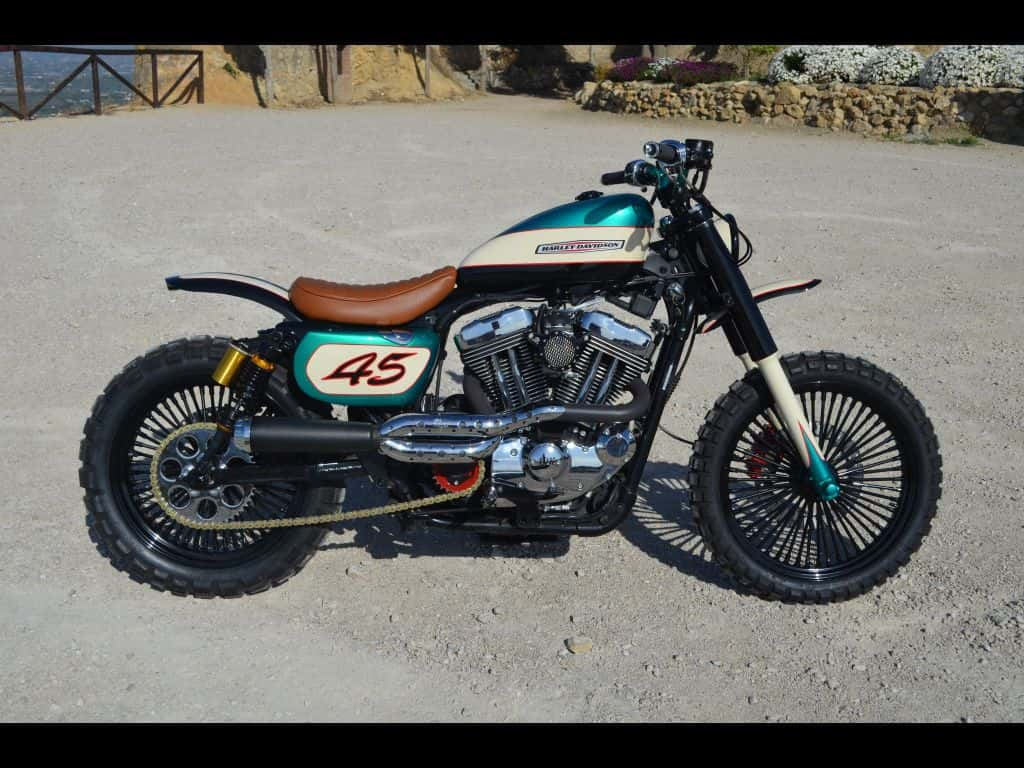 Soulbreaker, the first Harley scrambler of Lord Drake Kustoms.