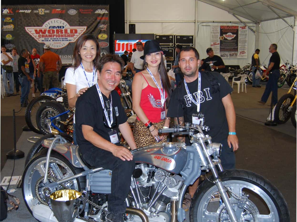 francisco ali manen - lord drake kustoms - Keiji-Kawakita (Hot-Dock Custom Cycles)