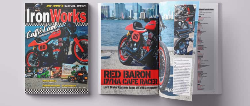 """Red Baron"" was cover in the USA magazine Iron Works in 2013"
