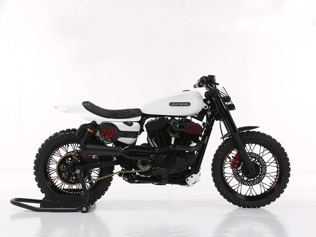 Seventy, a custom motorcycle created by Lord Drake Kustoms.