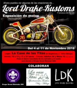 Cartel de la exposición de Lord Drake Kustoms