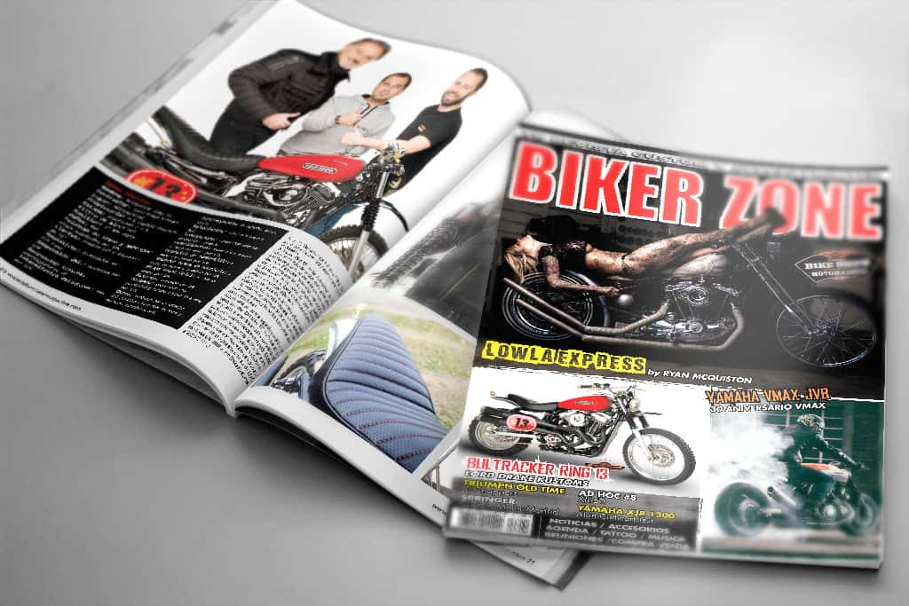 Bultracker 13 by Lord Drake Kustoms in Biker Zone Magazine 261