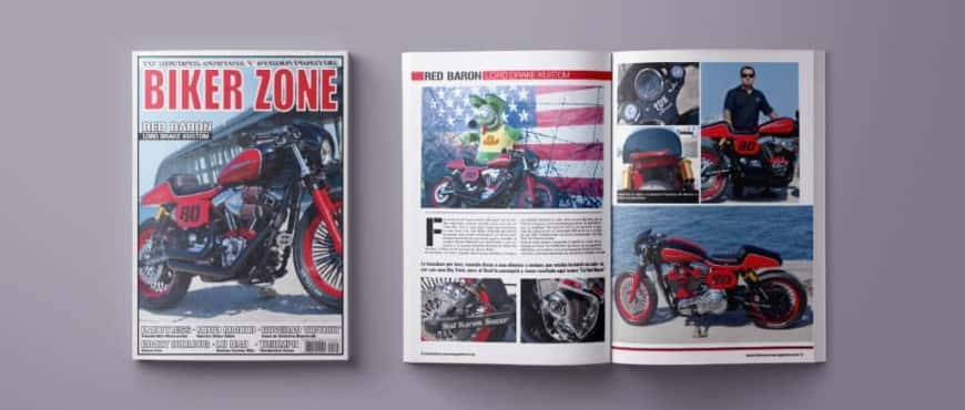 Cover press Red Baron in Biker Zone