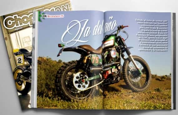 Bultracker 75 de Lord Drake Kustoms en la revista ChopperOn
