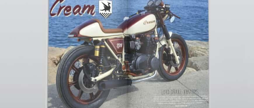 Report of Yamaha Cream by Lord Drake Kustoms in Biker Zone