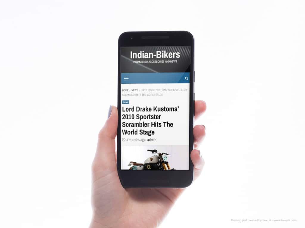 """URBANTRACKER"" by Lord Drake Kustoms in Indian Bikers Magazine (USA)"