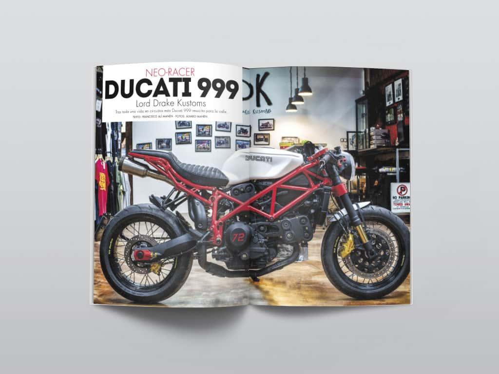 Ducati 999 Neoracer by Lord Drake Kustoms in Biker Zone Magazine