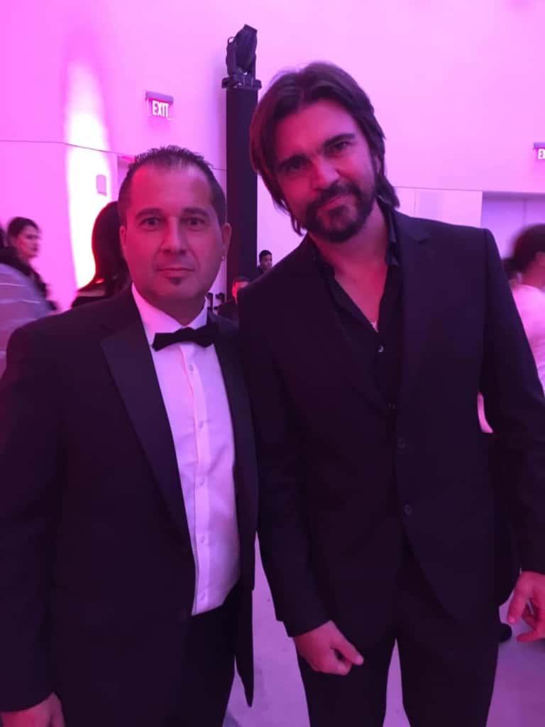 Francisco Alí con Juanes