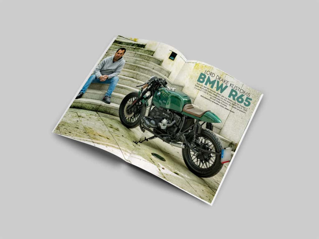 BMW R65 by Lord Drake Kustoms in Biker Zone magazine in its number 311