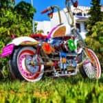 The first Agatha Ruiz de la Prada Motorcycle by Lord Drake Kustoms