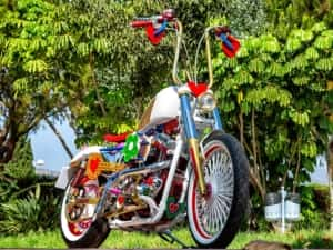 The first Agatha Ruiz de la Prada Motorcycle by Lord Drake Kustoms