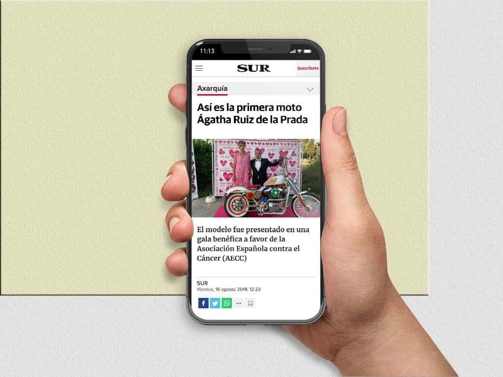 Press DiarioSur La primera moto Agatha Ruiz de la Prada
