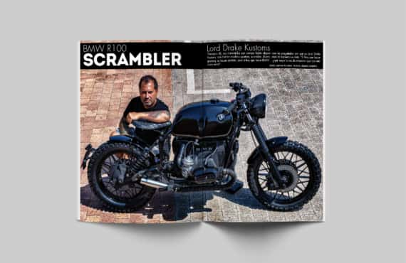 The BMW R100 Scrambler in Biker Zone magazine