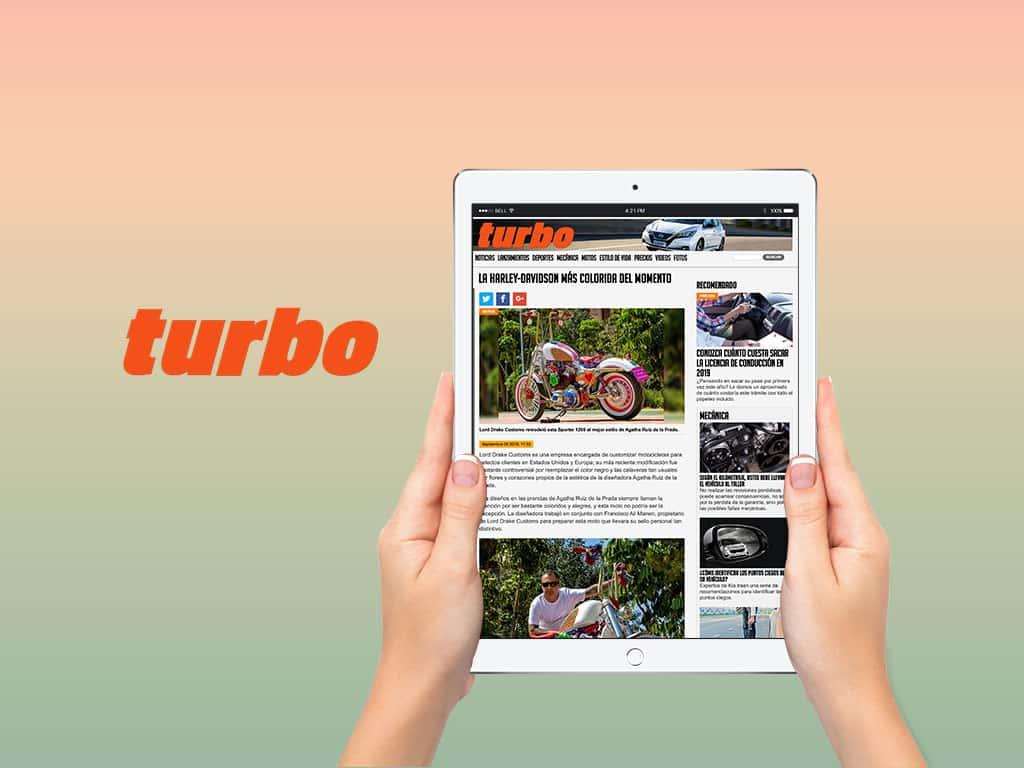 """Revista online Turbo y su reportaje sobre la Harley """"Agatha Ruiz de la Prada"""""""