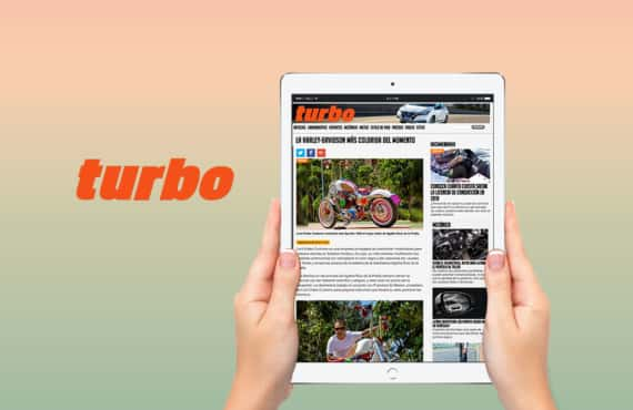 "Turbo online magazine about the harley ""Agatha Ruiz de la Prada"""