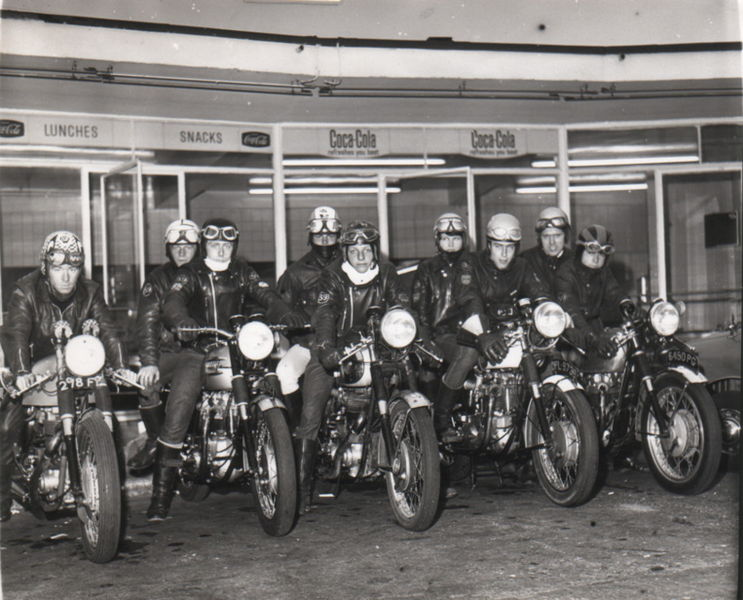 Rockers group photo with their cafe racers