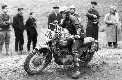 Steve McQueen racing at 1964 ISDT