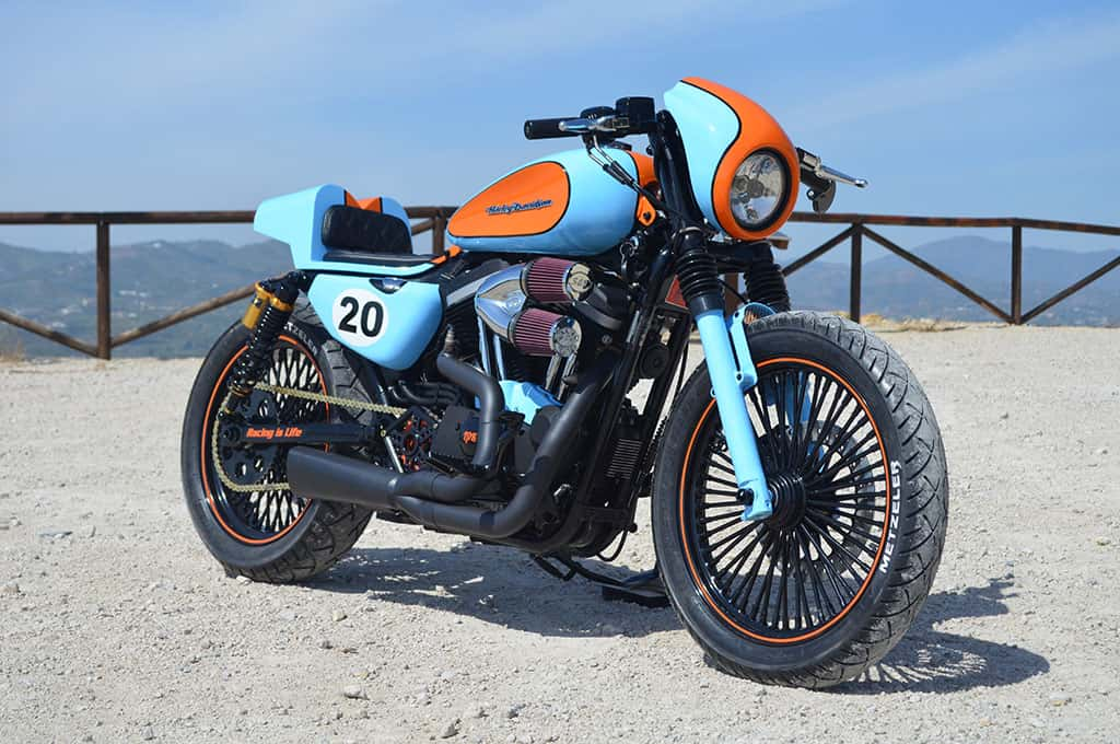 Racing is Life Sportster Cafe Racer