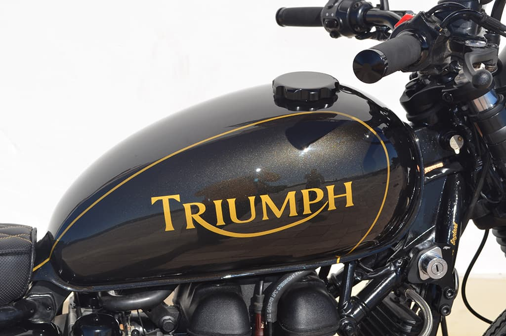 Triumph modified and transformed by Lord Drake Kustoms