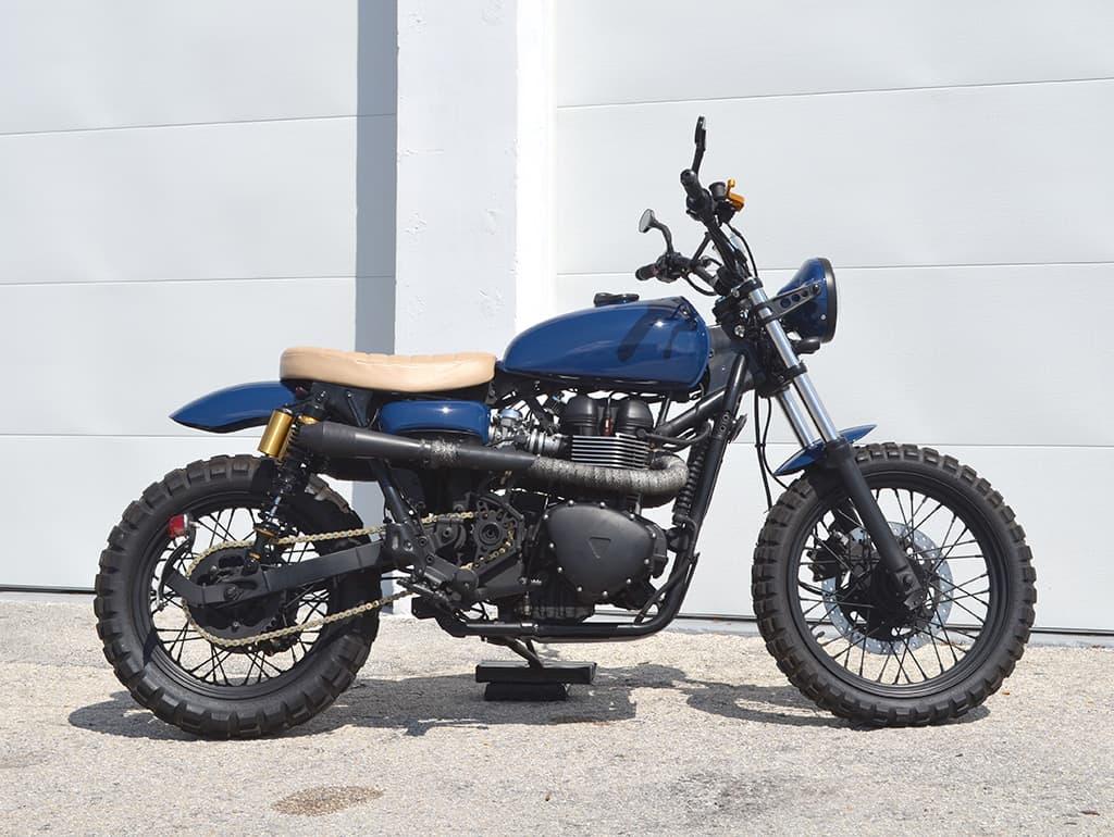 Triumph Guerrilla a Scrambler motorcycle