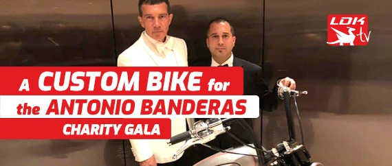 A custom Bike for the Antonio Banderas Charity Gala
