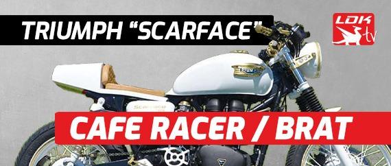 """Triumph Bonneville Cafe Racer Brat """"Scarface"""""""