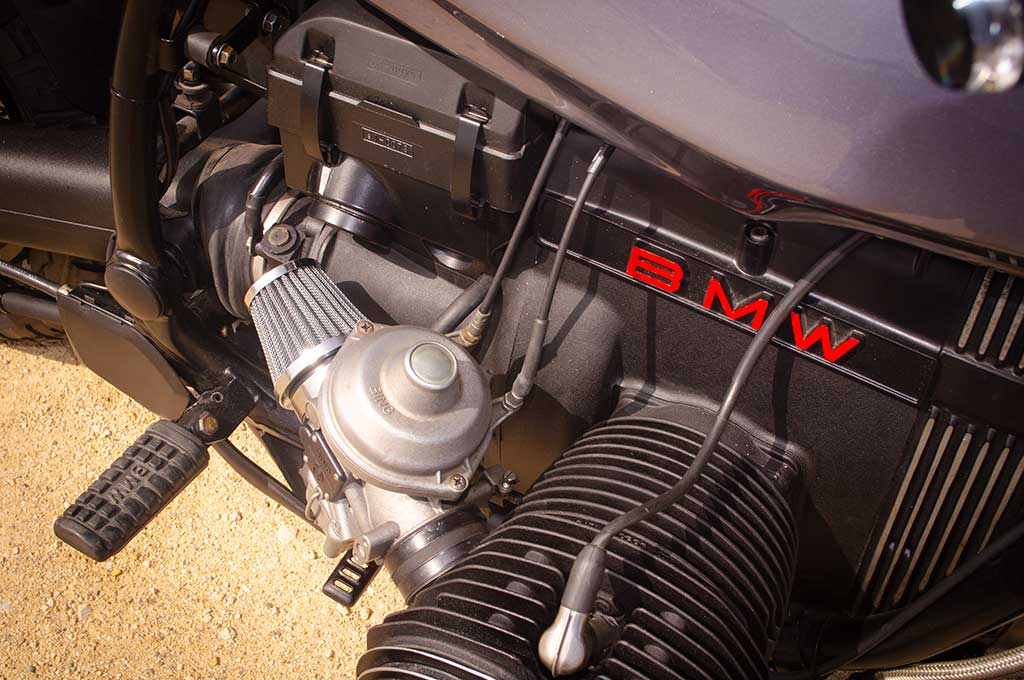Engine details of the BMW R100R Scrambler by Lord Drake Kustoms