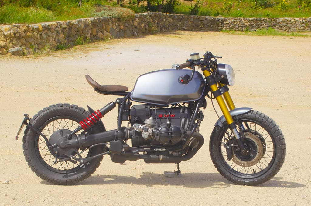 BMW R100R after the customization by Lord Drake Kustoms
