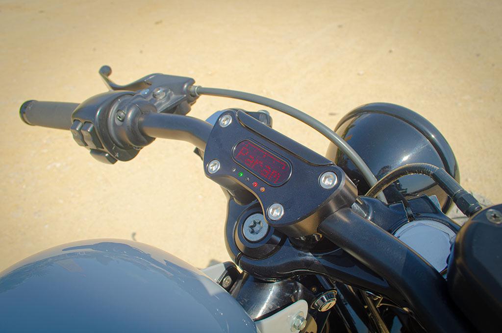 Odometer detail of Harley Sportster 48 Bobber