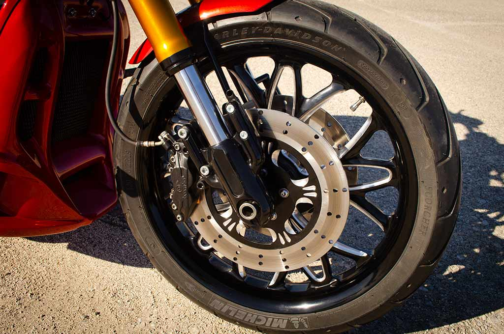 Front wheel of the Vrod 360