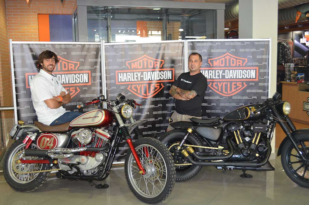 Fran Manen at the Harley Davidson dealer in Malaga