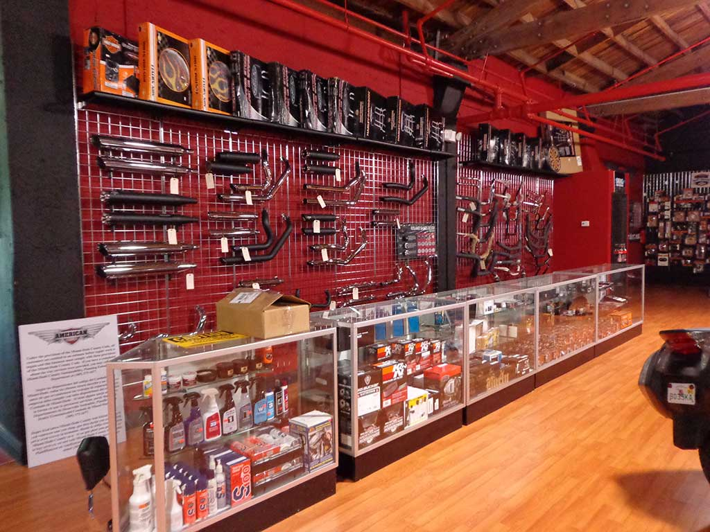 Motorcycle parts and accessories store in Miami