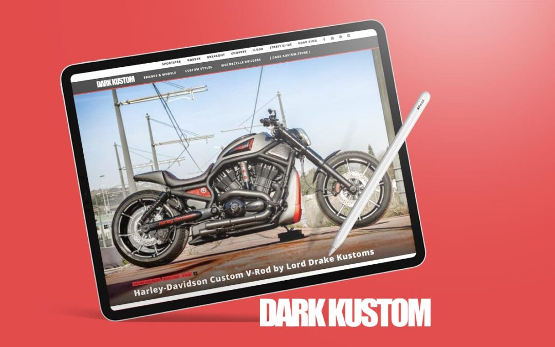 Two of our Harley V-Rods reviewed at DARK KUSTOM