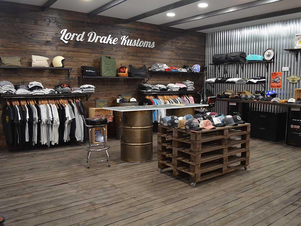 Lord Drake Kustoms boutique store in Malaga