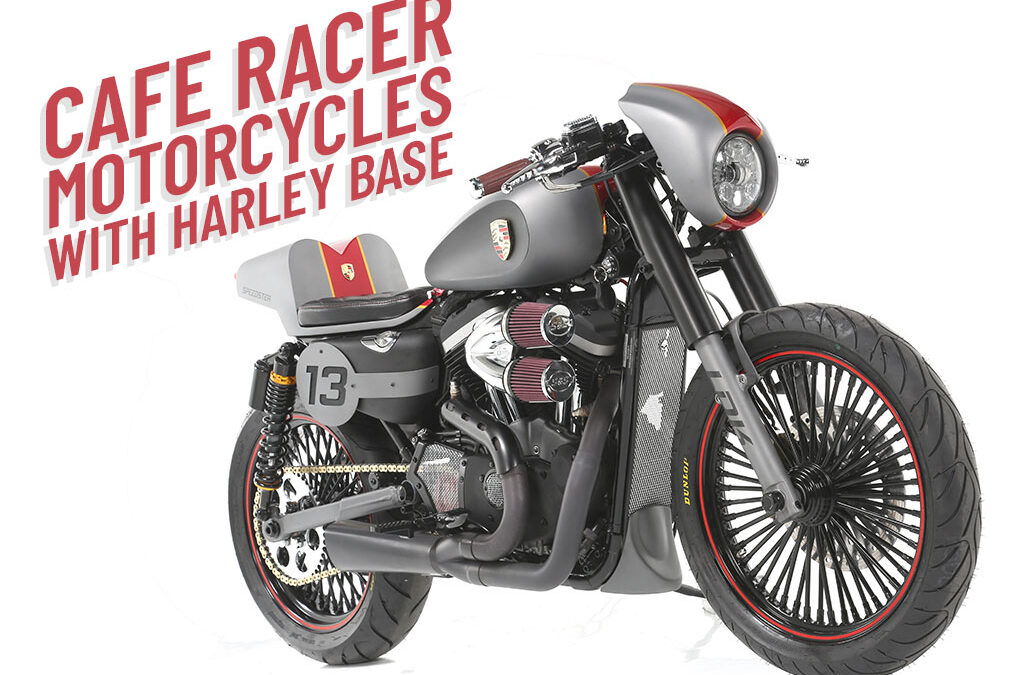 CAFE RACER BIKES WITH HARLEY DAVIDSON BASES BY LDK