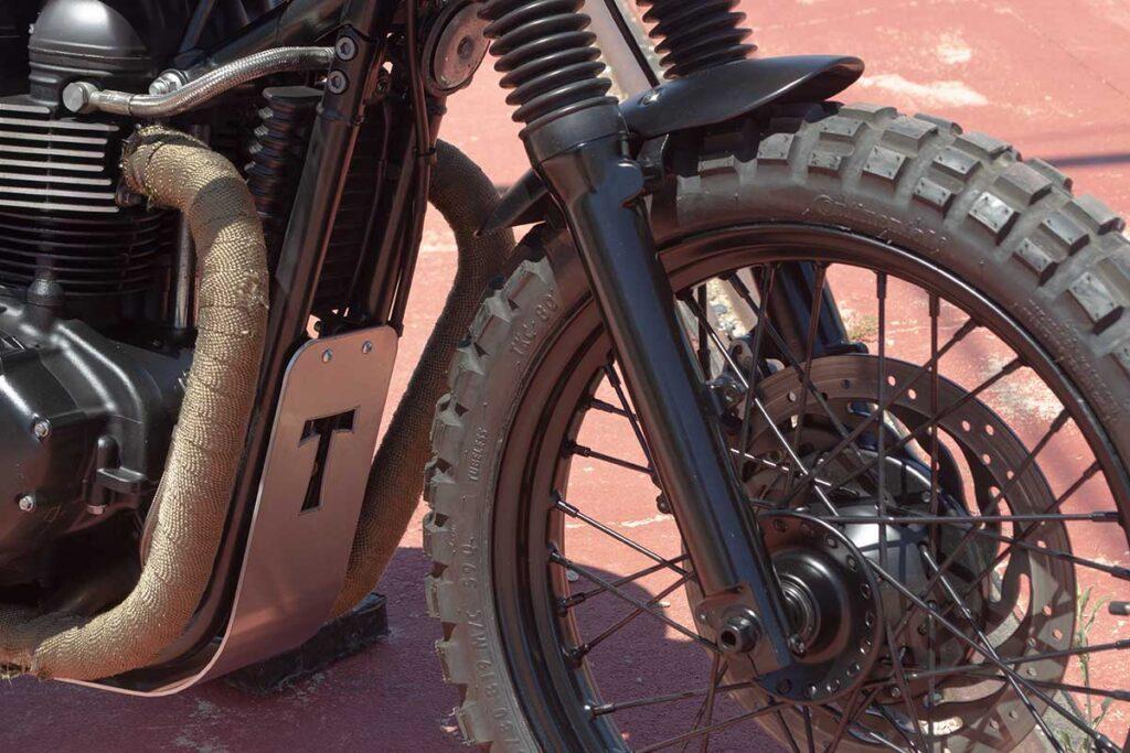 """LDK Triumph Bonneville T100 """"Army"""" front fender"""