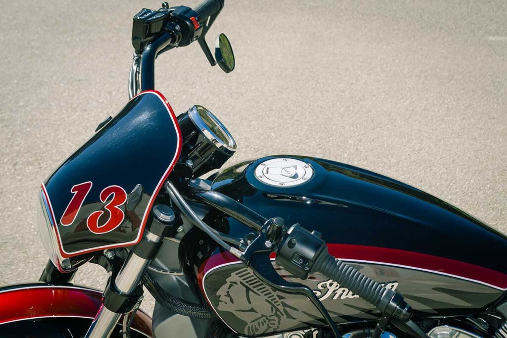 LDK Indian Scout Bobber Windshield and Tank