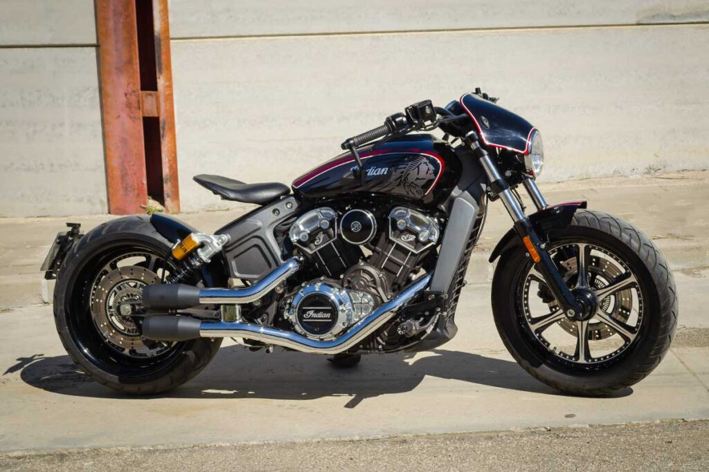 Right side view of LDK Indian Scout Bobber