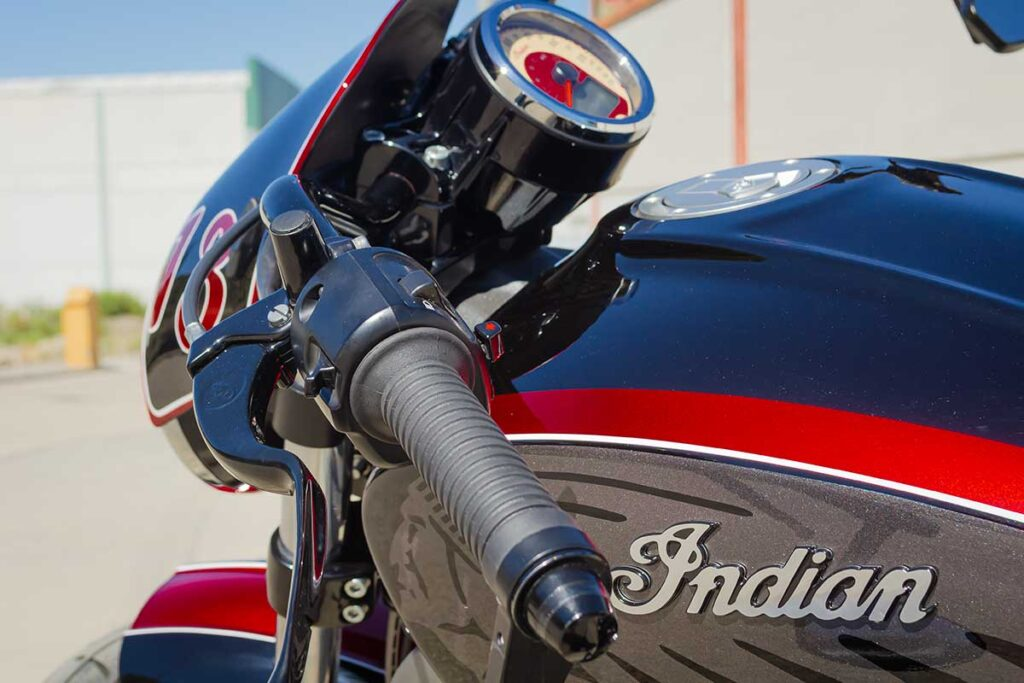 LDK Indian Scout Bobber Grips and Speedometer