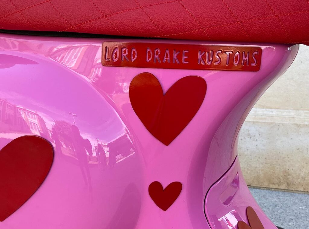 Detail of the Agathized Vespa from Lord Drake Kustoms