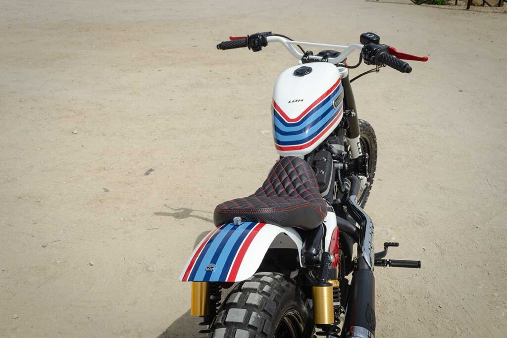 Top rear view